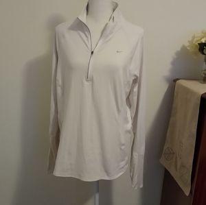 Size XL Nike Dri-Fit white long sleeve shirt